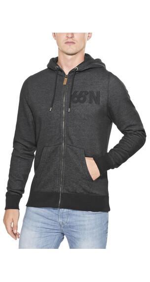 66° North Logn Zipped Sweater Men blackish